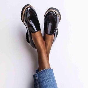Franco Sarto Cypress Loafer Black Patent Size 9